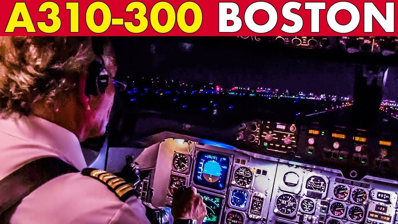 Piloting AIRBUS A310 out of Boston (2013)