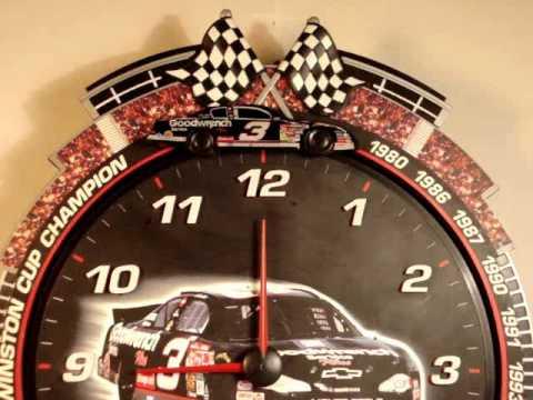 Dale Earnhardt Race Car Clock