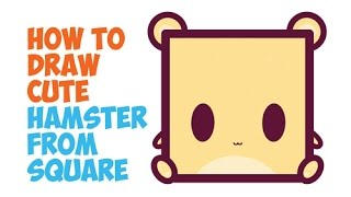 How to Draw Cute Hamsters / Chibi Kawaii Hamsters in Easy Step by Step Drawing for Kids