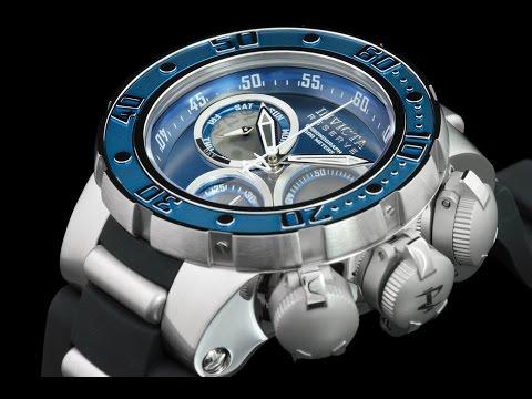 Invicta 21643 52mm Reserve Subaqua Sea Dragon Swiss Chronograph Watch w Submarine Hatch Style Covers