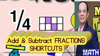 GRADE 6: HOW TΟ ADD OR SUBTRACT SIMILAR FRACTIONS (SHORTCUT) #fractions #addingfractions