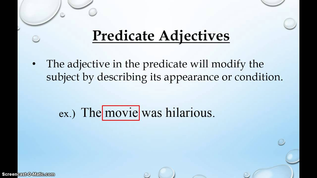 Predicate Adjectives Amp Predicate Nominatives Youtube