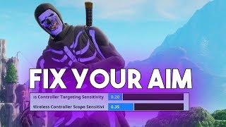 The Best Aiming Sensitivity For Console (Fortnite Battle Royale)