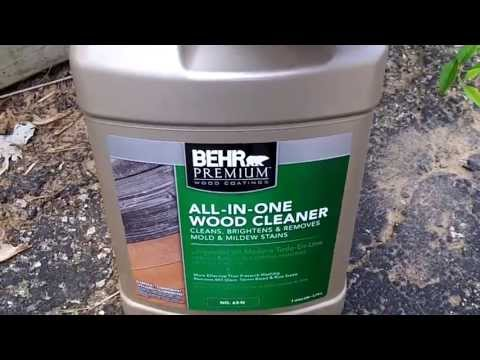 Behr All-In-One Wood Cleaner #64-N /Review and How To Use