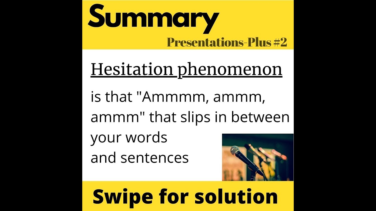Hesitation Phenomenon