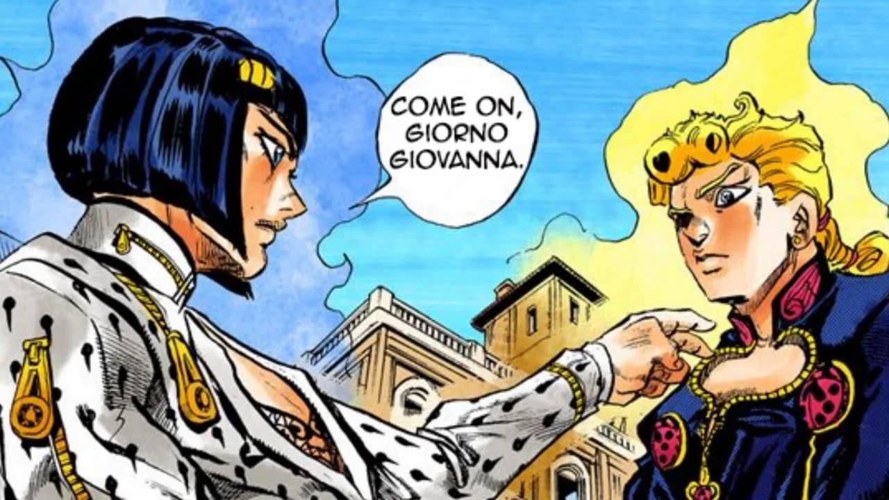 Bruno says Giorno Giovanna  YouTube