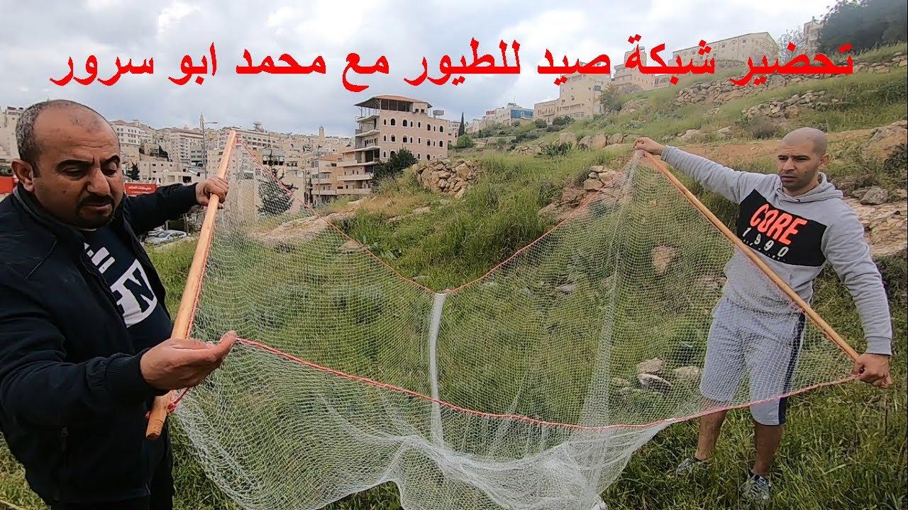 تركيب ونصب شبكة صيد ارضية للطيور مع محمد ابو سرور Youtube