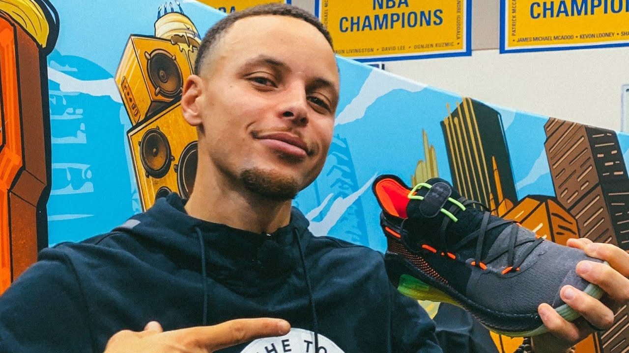 9ccf52c0474b Stephen Curry Reveals His New Curry 6 Shoes - YouTube