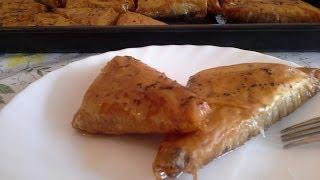Baklava trouglići - recept sa gotovim korama