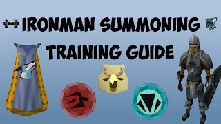 Runescape Ironman Summoning Training Guide 2016