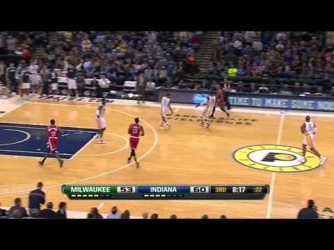 Paul George Dunk Of the Game (Dunk Over Larry Sanders)