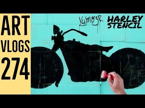 Harley Davidson Stencil Art