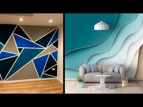 Modern Wall Painting Design Ideas For Living Room And Bedroom Youtube