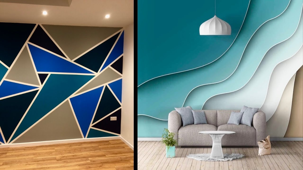 Modern wall painting design ideas for living room and ...