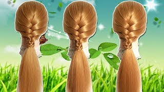 Quick & Easy Hairstyles with FRENCH BRAID 🌹🌻 Step By Step For Beginners 🍀 Hair style girl 2019