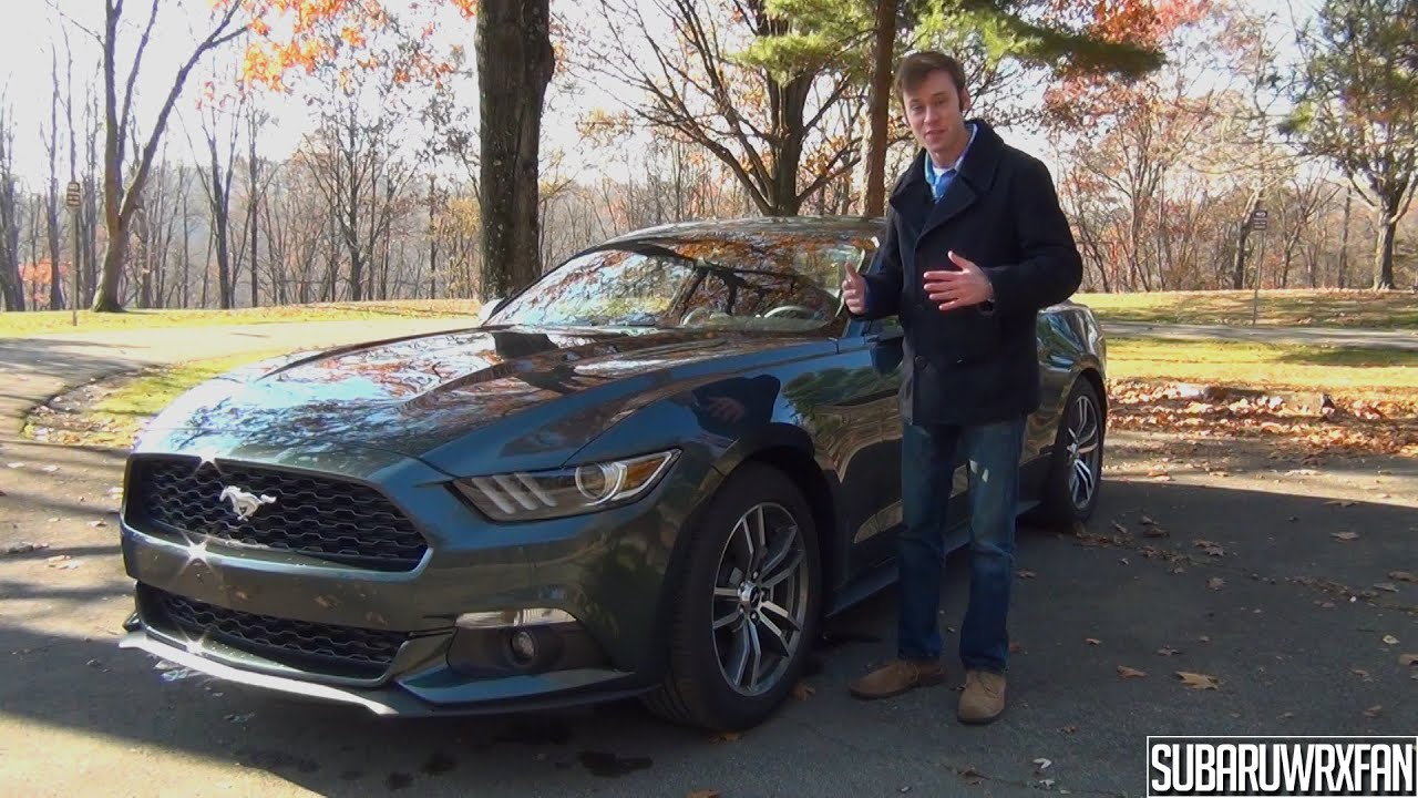 review 2015 ford mustang ecoboost youtube. Black Bedroom Furniture Sets. Home Design Ideas