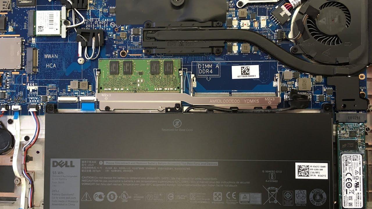 Dell Latitude E7470 ssd harddisk - battery - RAM removing