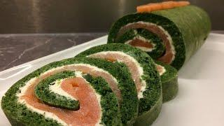 Roulé épinard saumon