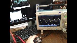 Tektronix MDO-3102. Тест мощности Baofeng UV-3R