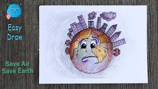How to Draw Air Pollution for Easy Save Earth Poster