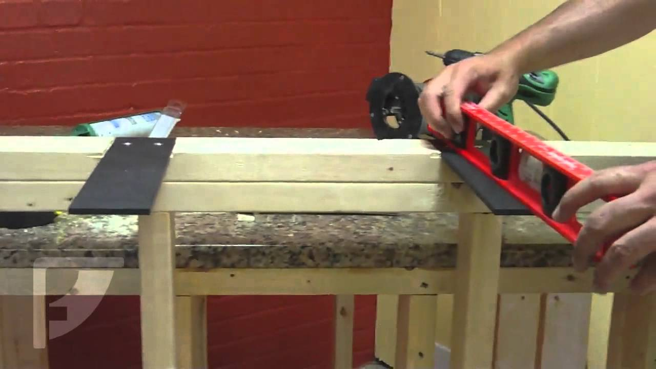 How to install the liberty carrier countertop plate for for Granite overhang without support