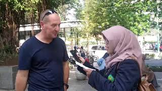 An interview with a foreigner
