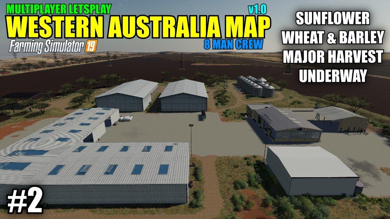 Map Of Australia Youtube.Fs19 Western Australia Map V1 0 Multiplayer Letsplay Part 2