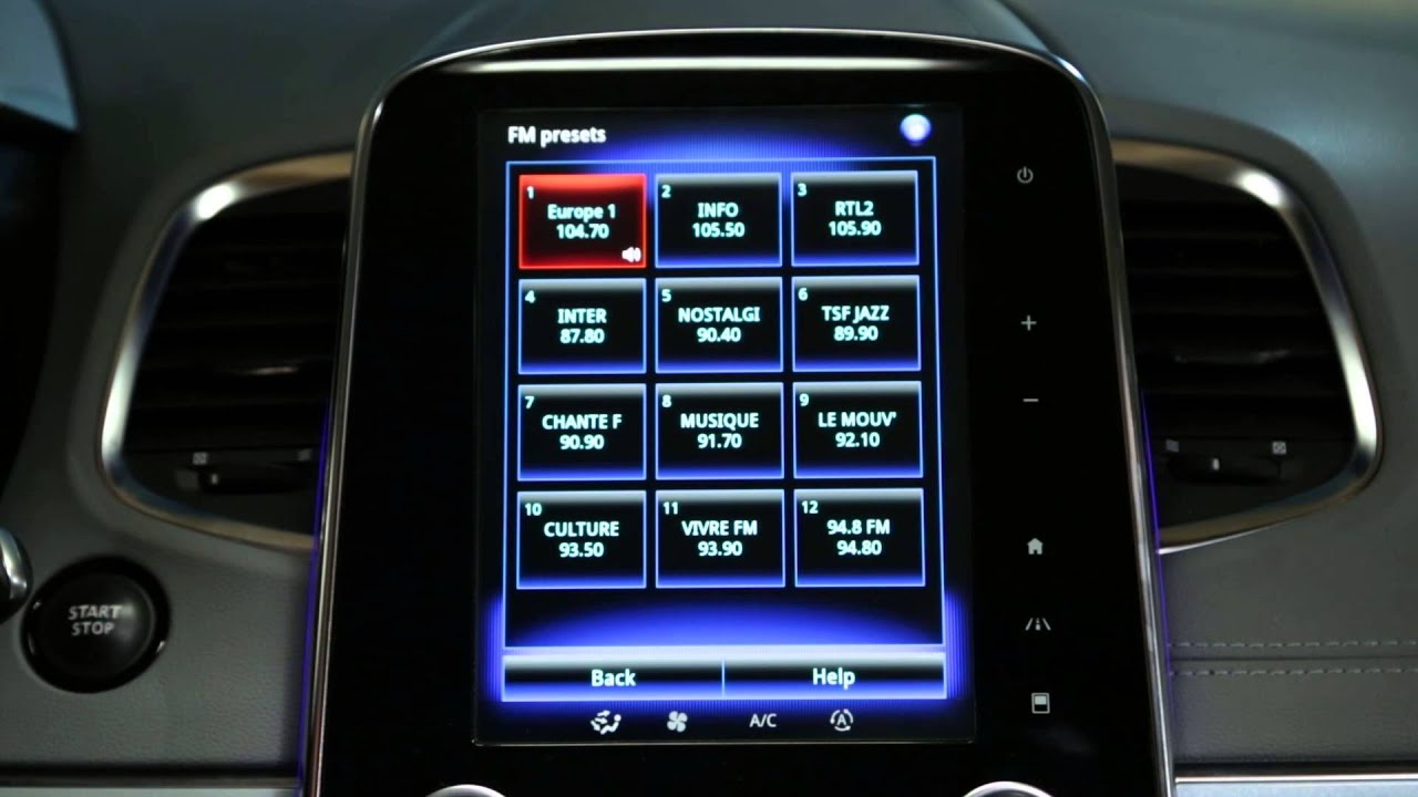 How to use voice control to choose a radio station?