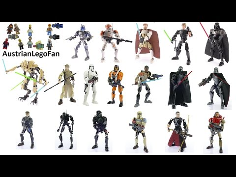 All Lego Star Wars Buildable Figures - Complete Collection - Lego Speed Build Review