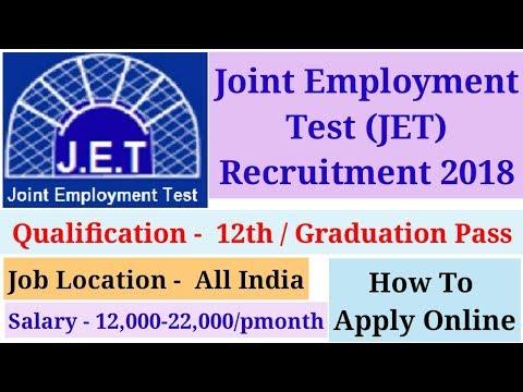 JET Recruitment 2018 || Govt Job || Desk Operator Job
