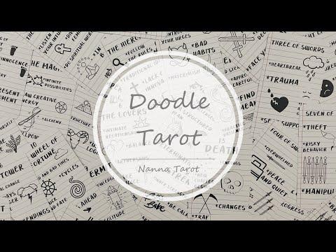 開箱  塗鴉塔羅牌 • Doodle Tarot // Nanna Tarot