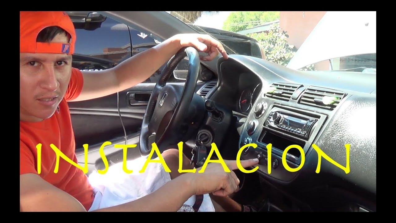 Como Instalar Un Estereo Honda 2005 Civic Youtube
