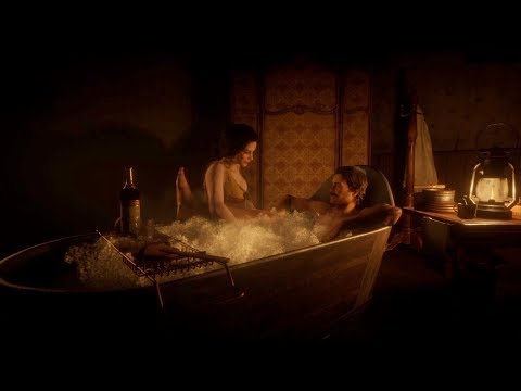 Arthur Morgan tries to get laid! Deluxe Bath scene in Red Dead Redemption 2