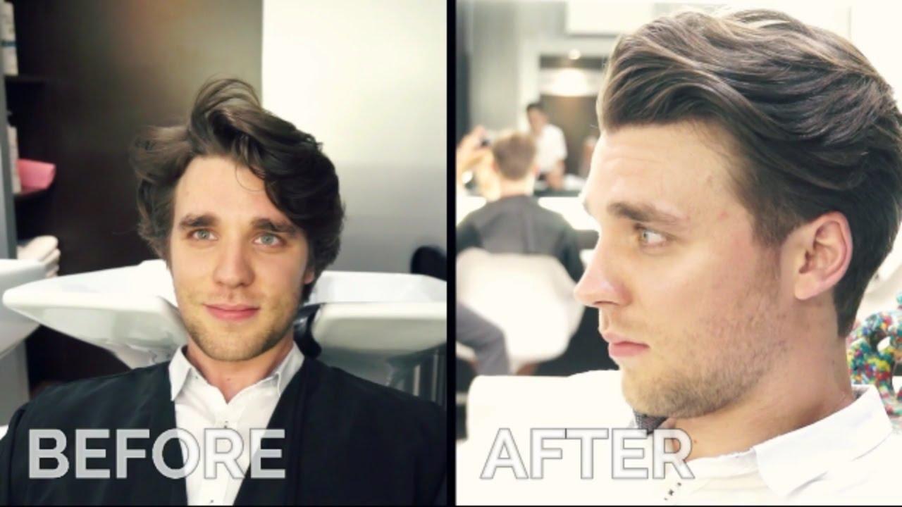 Men S Haircut David Beckham Hairstyle Tutorial Youtube