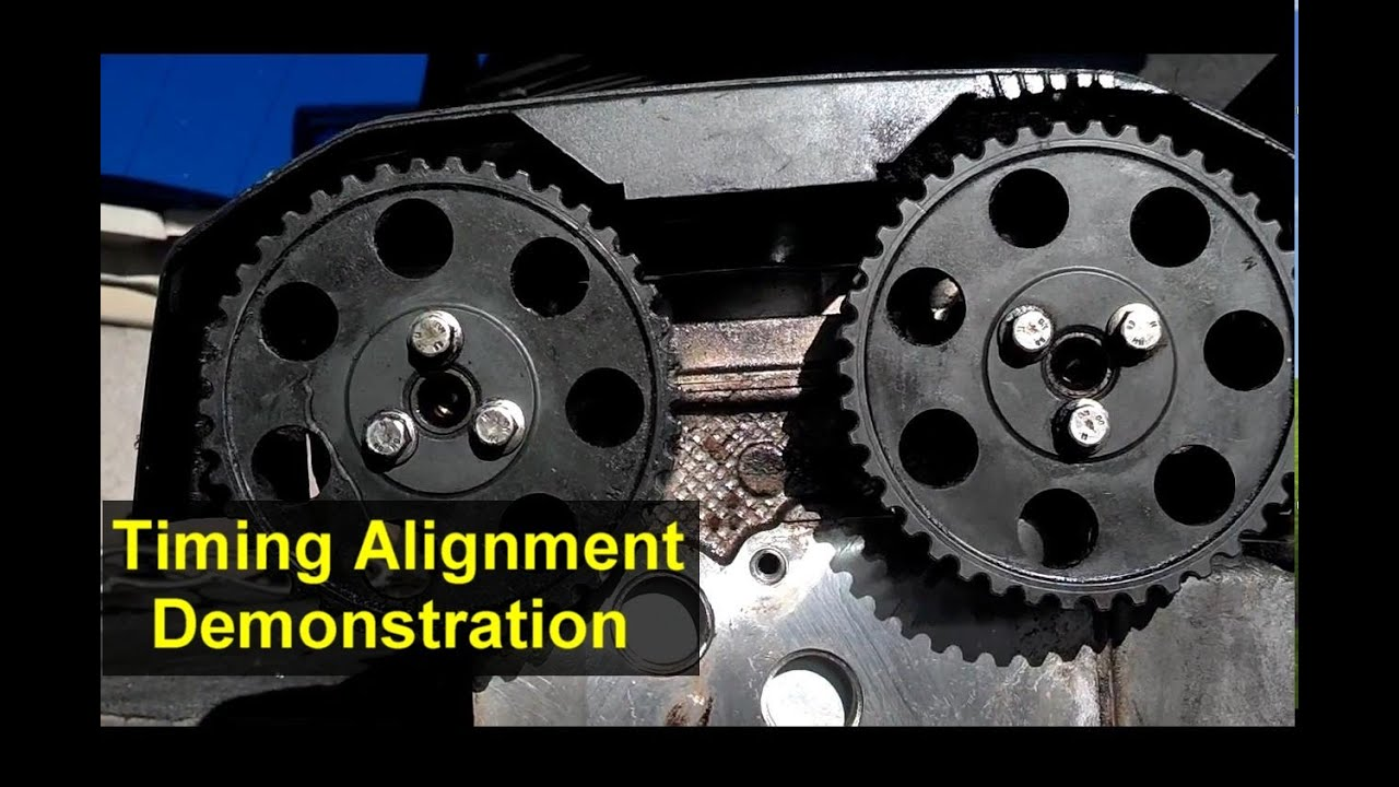 hight resolution of timing demonstration with head removed cam cover installation votd