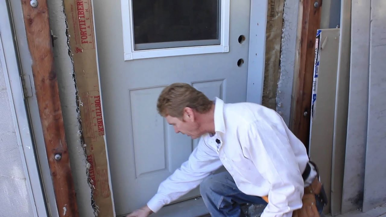 Installing exterior doors - Remove Reinstall A Door Frame And Trim Quickly Plus Stucco Lath Youtube