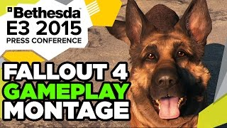 Fallout 4 - Bear Launcher, Jet Packs and Air Strikes Montage! - E3 2015 Bethesda Press Conference