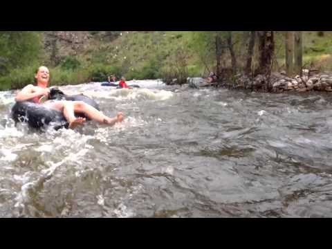 Tubing adventures on the Poudre River in Colorado!