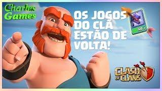 """⚔⚔ Clash of Clans, 5º DIA DE """"JOGOS DE CLÂ⚔⚔ HORA DA CV9 LV1"""