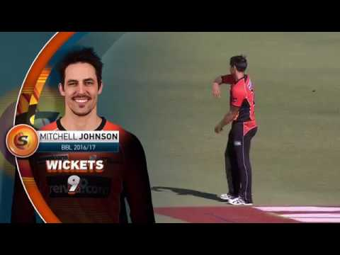 Mitchell Johnson 3 wickets for 4 runs- vs Melbourne Stars- BBL 2016-17