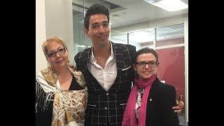 Famous Russian singer Sardor Milano - guest of STARTALK program at UCF in Orlando, FL