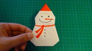 origami【Snowman】