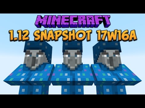 Minecraft 1.12 Snapshot 17w16a Illusioner Illager New Mob Added!