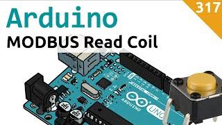 Lettura di un contatto o di coil con sistema modbus master-slave realizzato con Arduino - Video 317