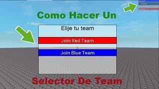 Como Hacer Un Selector De Team   Roblox Studio