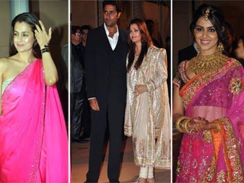 Ameesha Patel Aishwarya Rai Genilia Dsouza Honey Bhagnanis WEDDING RECEPTION