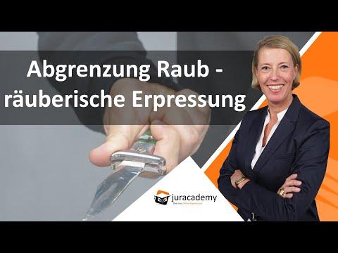 Abgrenzung Raub - Räuberische Erpressung ► Juracademy.de