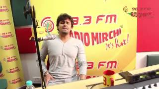 Sonu Nigam talks about his music in the movie 'Sooper Se Ooper' at the Radio Mirchi Studios