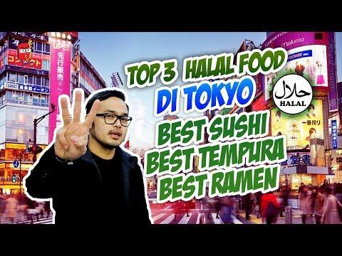 TOP 3 MAKANAN HALAL TOKYO / BEST HALAL SUSHI, TEMPURA, & RAMEN  By Review Mulu