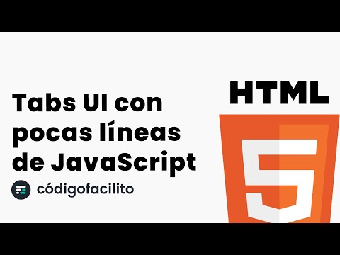 Tabs UI con pocas líneas de JavaScript - Tutorial thumbnail